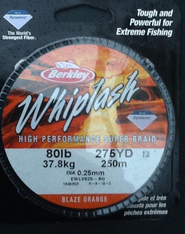 BERKLEY WHIPLASH 8Olb (37.8kg) HIGH PERFORMANCE SUPER BRAID - FREE UK P & P