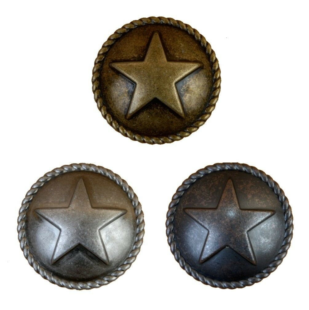 Dome Star with Rope Lone Star Drawer Cabinet Pull Western Southwest Rustic Texas
