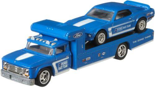 HW Team Transport  1969 Ford Mustang Boss 302 Retro Rig  *RR* Hot Wheels 1:64