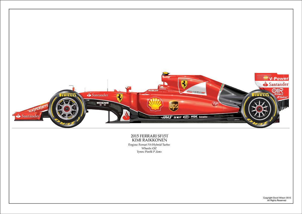2015 2015 2015 Ferrari sf15t-Kimi Raikkonen Ltd Ed. Nº 1 De 250 signed numberojo Por Artista 16b168