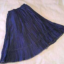 Coldwater Creek Woman's Skirt Pleated Maxi Boho Gypsy Hippie Long Sz Small