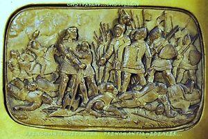 Cuadro-Moldura-Escultura-High-XIX-Batalla-Medieval-Marco-26x21cm