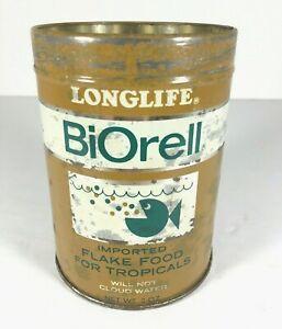 Vintage-Biorell-Tropical-Fish-Flake-Food-Metal-Can-West-Germany-Aquarium