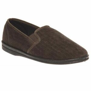 MENS-GROSBY-ANTON-COMFORTABLE-KHAKI-BROWN-SLIPPERS-MOCCASINS-SHOES-SIZE-6-12