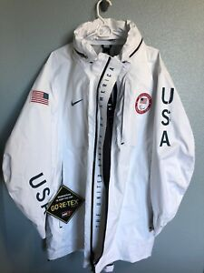 467197306ca0 NIKE NIKELAB PARALYMPIC Olympic TEAM USA MEDAL STAND JACKET GORE-TEX ...