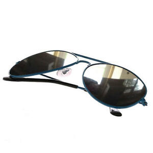 9afae3807f Image is loading Blue-Silver-Mirror-Mirrored-Retro-Designer-Sunglasses-Mens-
