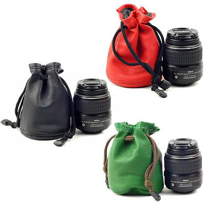 Black DSLR SLR Camera Lens Bag Protector Pouch Case Insert Bag Cover Padded Case