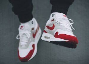06586ac568ad NIKE AIR MAX 1 ANNIVERSARY RED Sz 9.5 908375-103 - blue atmos ...
