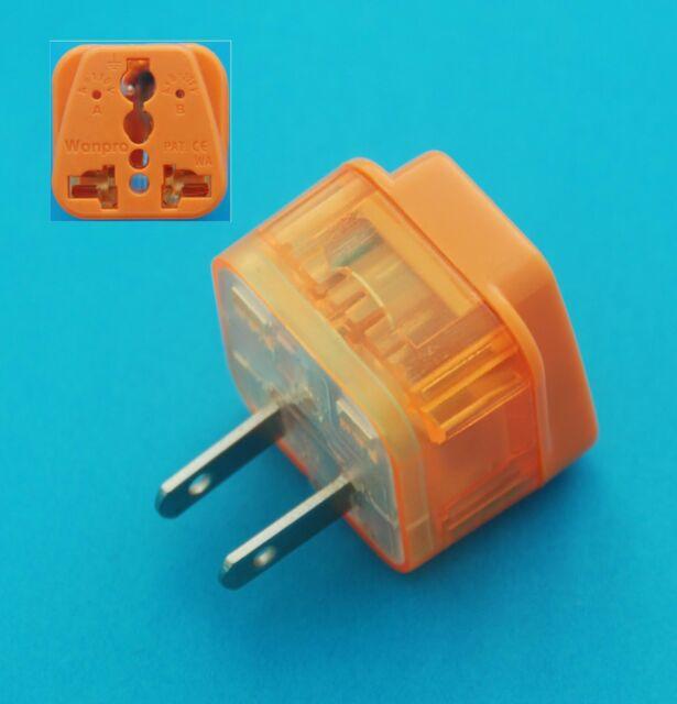 Australia UK European to USA Japan Universal Travel Adaptor AC Power Plug Surge