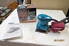 Makita  BO4552 Finishing Sander  1.6 AMP In box w/bag & manual Excellent Low Use