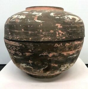 Antique-Chinese-Han-Dynasty-Pottery-Jar-With-Lid