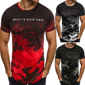Mens-Camo-Short-Sleeve-Crew-Neck-T-Shirt-Summer-Gym-Sports-Casual-Tee-Shirt-Tops