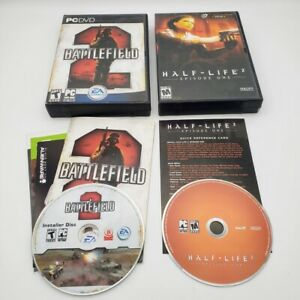 Half-Life-2-Episode-1-Valve-Battlefield-2-EA-Big-Box-PC-DVD-ROM-Game-Lot