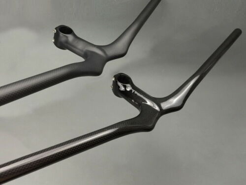 NESS Carbon MTB Road bike Riser bar Handlebar 58-72cm Integrated Bar Stem 9-12cm