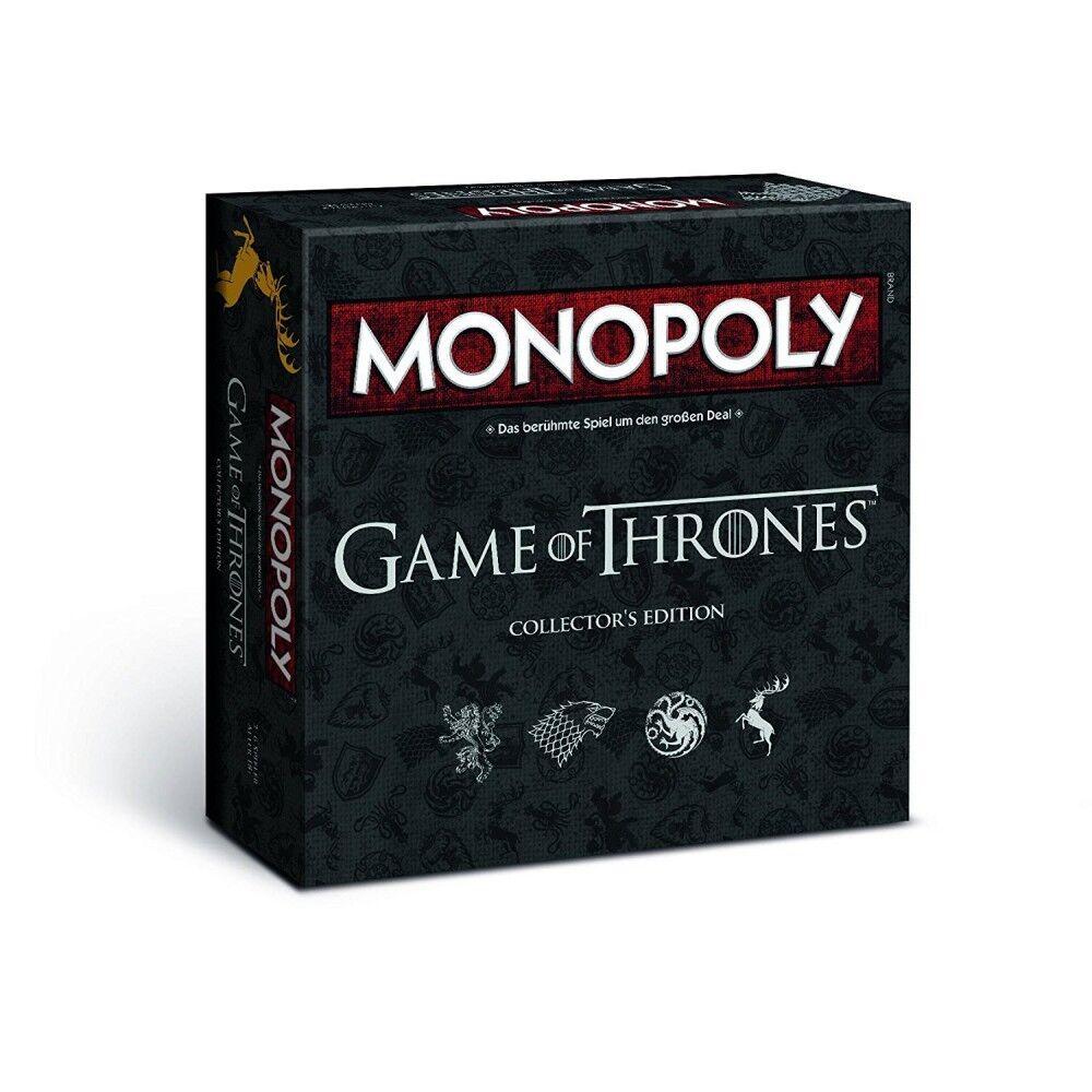 vendendo bene in tutto il mondo Monopoly-Edizione Limitata gioco of Thrones Thrones Thrones COLLECTOR'S edizione   Gioco da Tavolo   tedesco  100% nuovo di zecca con qualità originale