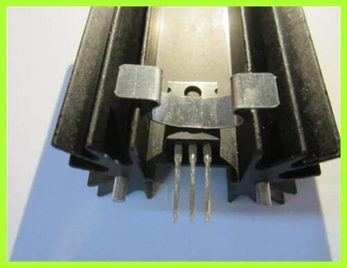 Dissipatore di calore alluminio nero to220 con staffe di montaggio-clip circa 64x42x25mm 1 pezzi