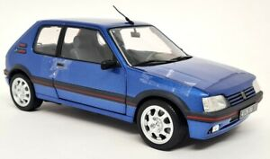 Norev 1/18 - Peugeot 205 GTi 1.9 Miami Blue Metallic 1992 Diecast Model Car