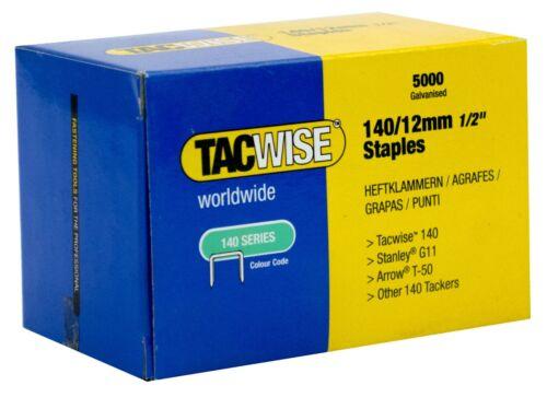 - 12MM Tacwise Worldwide 140 Series Staples Range