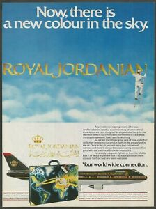 ROYAL-JORDANIAN-New-livery-1987-Vintage-Airlines-Print-Ad
