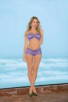 Beautiful Lilac Breeze Double Jewel Bando Panty Set By Escante Lingerie. 56039