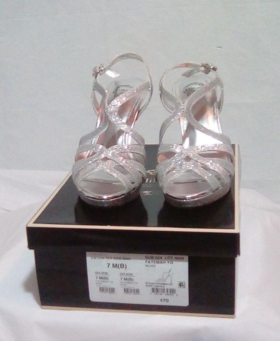 I.Miller-Womens FATEMAH-YG FATEMAH-YG FATEMAH-YG Silver (Prom) Peeptoe High Heel shoes-Size 7M(B) 3c290c