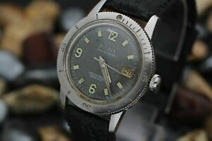 C-1967-BULOVA-Automatic-666-Stainless-Steel-Tropical-Dial-Divers-Watch