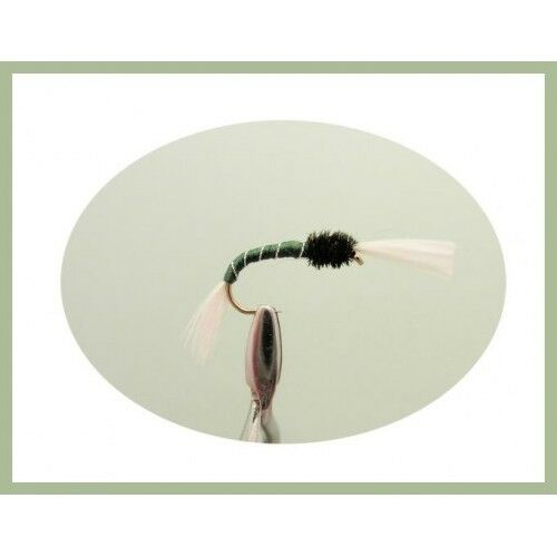 bordeaux et orange Taille 12//14 Buzzers Truite Mouches vert thoraxed 12