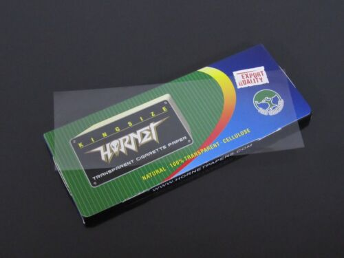 1 Box 110mm King Size Transparent Cellulose Smoking Rolling Papers N756