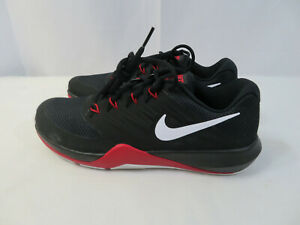 Nike-Lunar-Prime-Iron-II-Training-Shoes-Black-White-Red-908969-006-Mens-Size-7-5