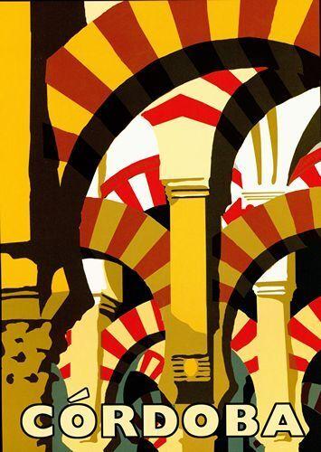 A2  Reprint Vintage Cordoba Spain Tourism  Poster A3