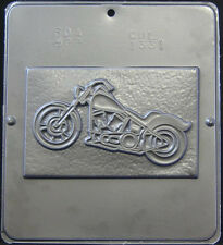 Motorcycle Chopper Plaque Chocolate Candy Mold  1331 NEW