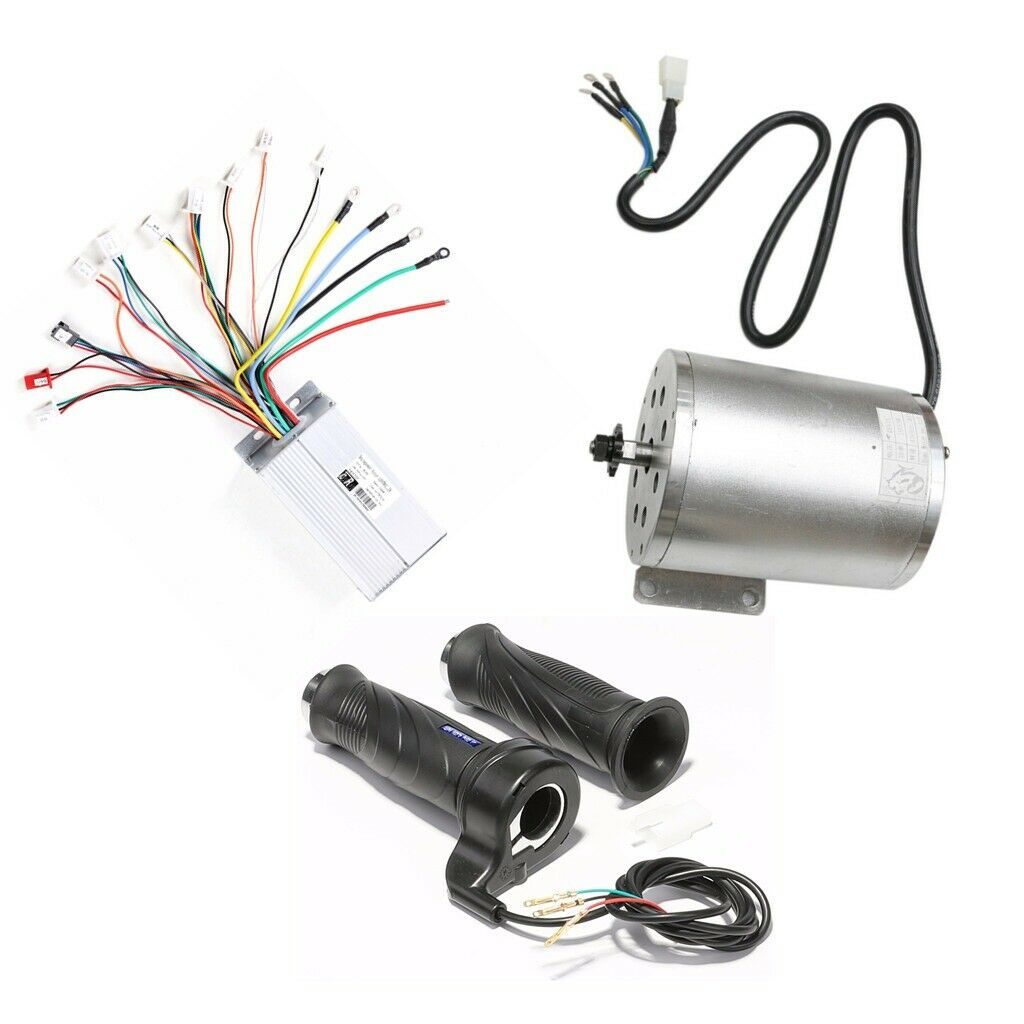 48v 1800w Brushless Motor Speed Controller Throssotle Grips w Reverse for GO KART