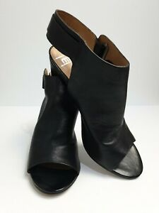 Nisha-RMK-Black-Leather-Women-039-s-Heels-As-New-R-R-P-179-95-Size-40