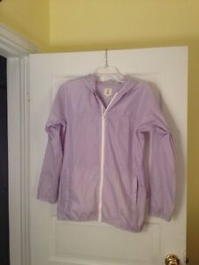 Kids-Lands-End-Size-Large-14-Lavender-Hoodie-Windbreaker
