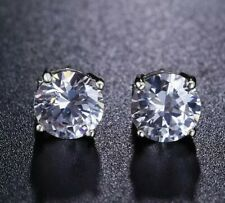 fcbad9e07 Crystal Solitaire Stud Pierced Earrings - Made with Swarovski Elements -  BNIB
