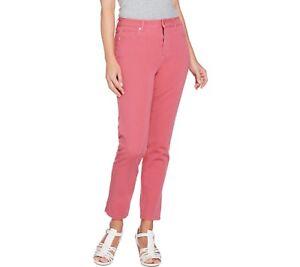 Isaac-Mizrahi-Womens-Regular-24-7-Colored-Denim-5-Pocket-Ankle-Jeans-Size-12-QVC