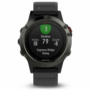 Garmin fenix 5 Slate Gray with Black Band Multisport GPS Watch 010-01688-00