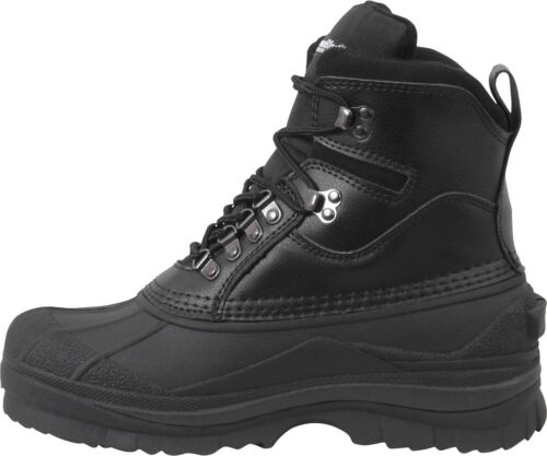 """Black Thermoblock Extreme Cold 600 Gram Insulated Waterproof Winter Boots 8/"""""""