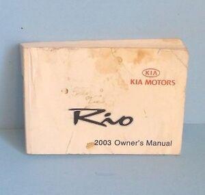 03 2003 kia rio owners manual english french ebay rh ebay com kia rio 2003 repair manual pdf 2003 kia rio owners manual free