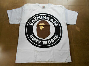 5ffb85505cb AUTHENTIC APE BAPE PIGMENT COLORFUL BIG BUSY WORKS TEE T SHIRT WHITE ...
