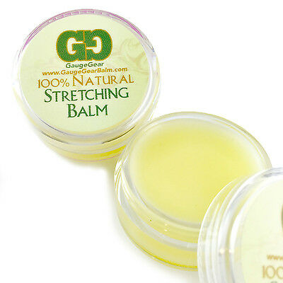 Gauge Gear Ear Stretching Balm w/ Jojoba Oil use with Ear Tapers Plugs Expanders