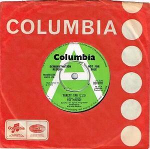 THE-PIPKINS-YAKETY-YAK-RARE-7-034-45-DEMO-VINYL-RECORD-1970