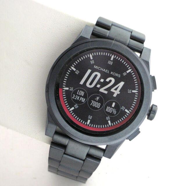 Michael Kors Access Touchscreen MKT5028 Grayson Smartwatch Blue SS Link Watch WR