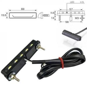 DEL-Plaque-d-039-immatriculation-eclairage-Nice-Noir-e-verifie-incl-support-moto-nummerns