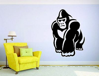 Gorilla Ape Wild Animals Childrens Wall Stickers Decal Transfer Kids 4 Sizes
