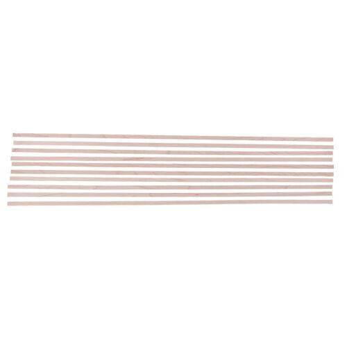 10x Maple Purfling Binding Inlay Strip für Gitarren Griffbrett Bundteile