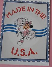 Made in the USA Minnie Mouse Cheerleader Disney Postcard