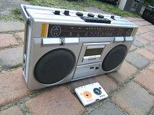 100% Works!!! Silver ST545  Ghettoblaster Boombox Radio 80er 80s Vintage
