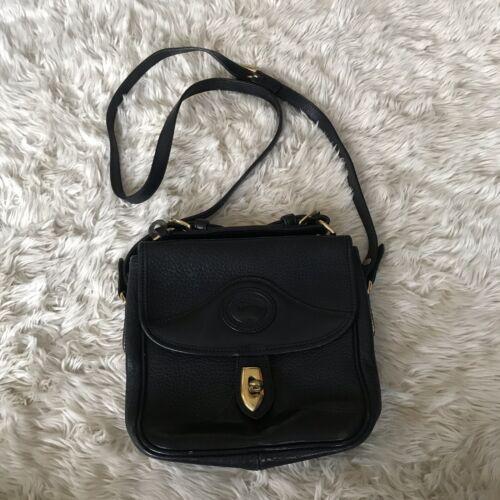 Dooney Gold Leather Crossbody Vintage Pebble Black Bourke rZB8Uqr