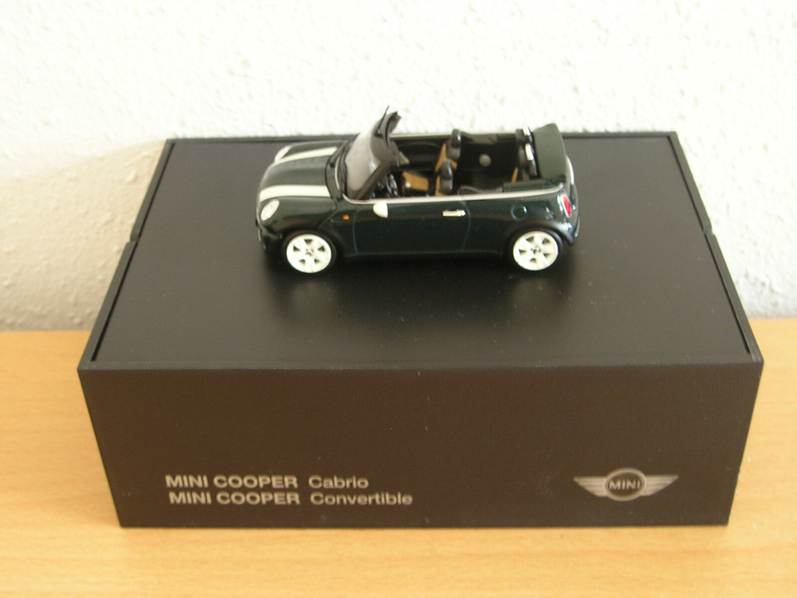 12 Modèle Voitures Mini Cooper Cabriolet r52 British Racing vert (vert), M 1 43
